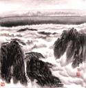 黄山松云图